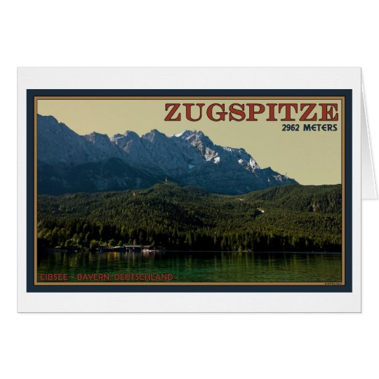 Garmisch - Zugspitze sobre el Eibsee Tarjeta De Felicitación
