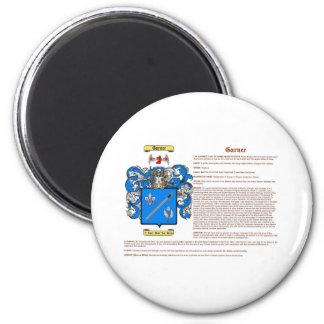 Garner (meaning) 2 inch round magnet