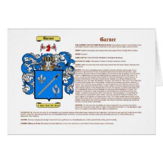Garner (significado) tarjeta de felicitación