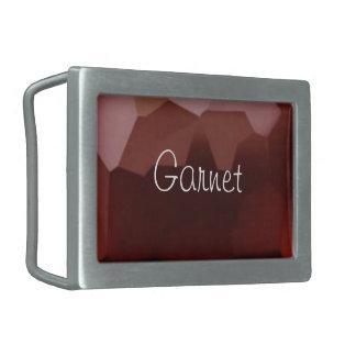 Garnet 01, January, Birthstone Belt Buckles