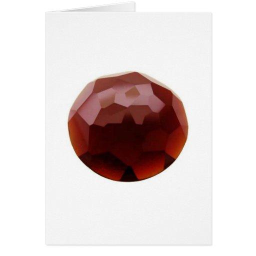 Garnet 01, January, Birthstone Card