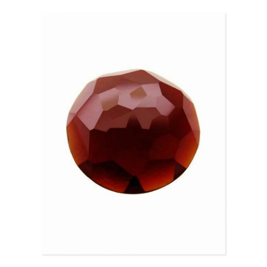 Garnet 01, January, Birthstone Postcard