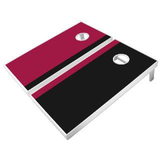 Garnet and Black Add Your Logo Cornhole Set
