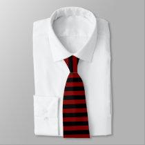 Garnet and Black Horizontally-Striped Tie