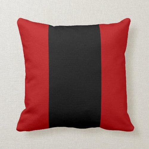 Garnet and Black I Throw Pillow