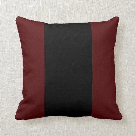 Garnet and Black II Throw Pillow