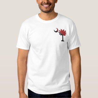 Garnet and Black Palmetto Embroidered Shirt