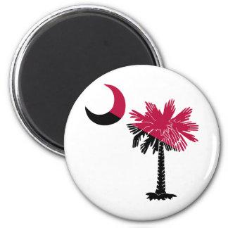 Garnet and Black Palmetto Fridge Magnets