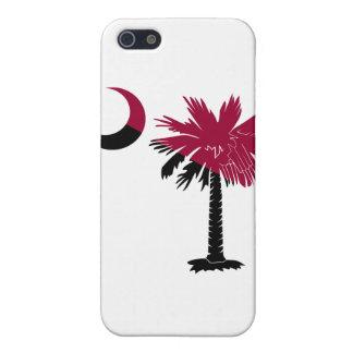 Garnet and Black Palmetto Moon iPhone 4 Case