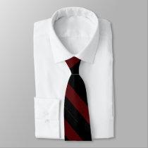 Garnet and Black University Stripe Tie