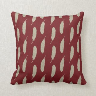 Garnet and Gold/Feather Throw Pillow