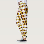 "Garnet and Gold Spirited Diamond Argyle Pattern Leggings<br><div class=""desc"">This garnet and gold pattern is full of school spirit and team pride.  The preppy pattern is a classic harlequin diamond argyle.  A great way to show your team colors.</div>"