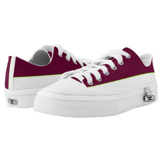 Garnet and White Lo-Top Printed Shoes