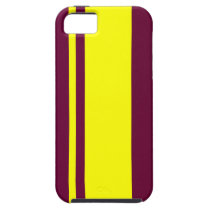 Garnet and Yellow-Striped iPhone SE/5/5s Case
