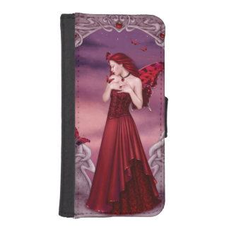 Garnet Birthstone Fairy iPhone Wallet Case iPhone 5 Wallets