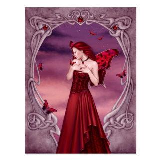 Garnet Birthstone Fairy Postcard