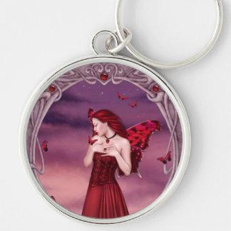 Garnet Birthstone Fairy Premium Keychain