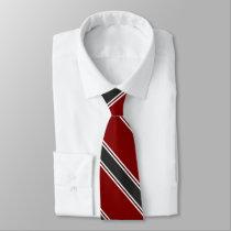 Garnet Black and White University Stripe Tie