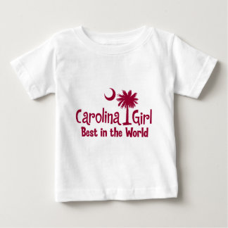 Garnet Carolina Girl Best in the World Baby T-Shirt