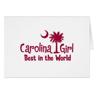 Garnet Carolina Girl Best in the World Card