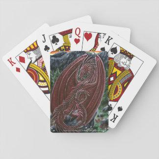Garnet Dragon January Birthstone Playing Cards