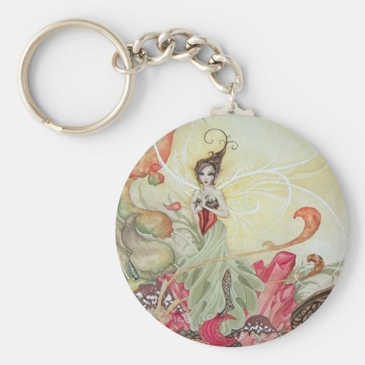 Garnet Faery Keychain