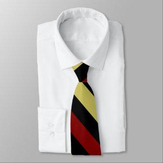 Garnet Gold and Black Diagonally-Striped Tie