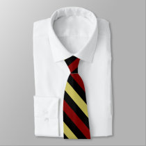 Garnet Gold and Black II Diagonally-Striped Tie