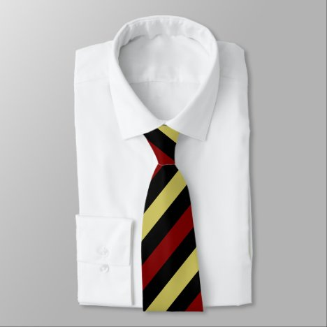 Garnet Gold and Black II Regimental Stripe Tie