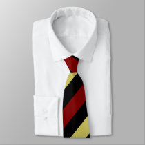 Garnet Gold and Black Regimental Stripe Tie