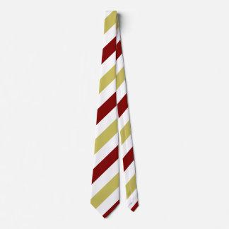Garnet Gold and White Custom Regimental Stripe Tie