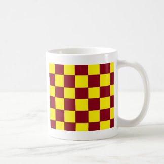 garnet/gold checkers coffee mug