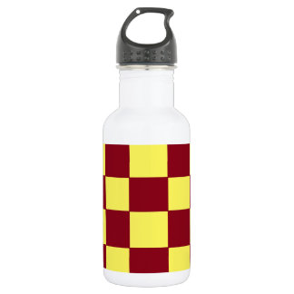 garnet/gold checkers stainless steel water bottle
