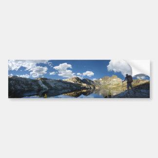 Garnet Lake and Banner Peak 2 - John Muir Trail Bumper Sticker
