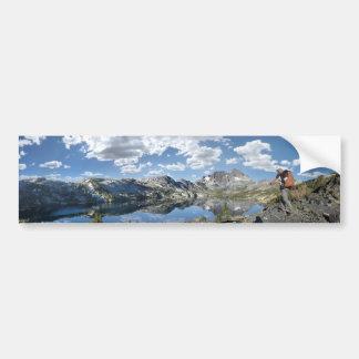 Garnet Lake and Banner Peak - John Muir Trail Bumper Sticker