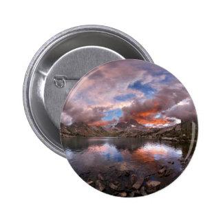 Garnet Lake Sunset On Banner Peak  John Muir Trail Pinback Button