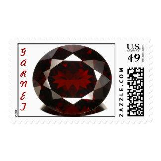 Garnet postage stamp