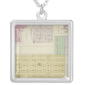 Garnett, Robinson, Hamlin, and Willis, Kansas Square Pendant Necklace