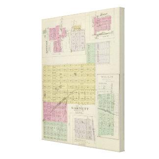 Garnett, Robinson, Hamlin, y Willis, Kansas Impresión En Lona