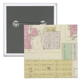 Garnett, Robinson, Hamlin, y Willis, Kansas Pin Cuadrada 5 Cm