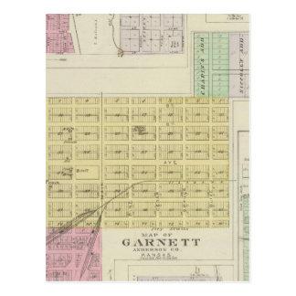 Garnett, Robinson, Hamlin, y Willis, Kansas Tarjeta Postal