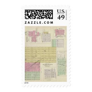 Garnett, Robinson, Hamlin, y Willis, Kansas Timbres Postales
