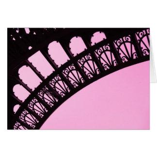 garnir de dentelle - postal de Paris3 Tarjeta De Felicitación