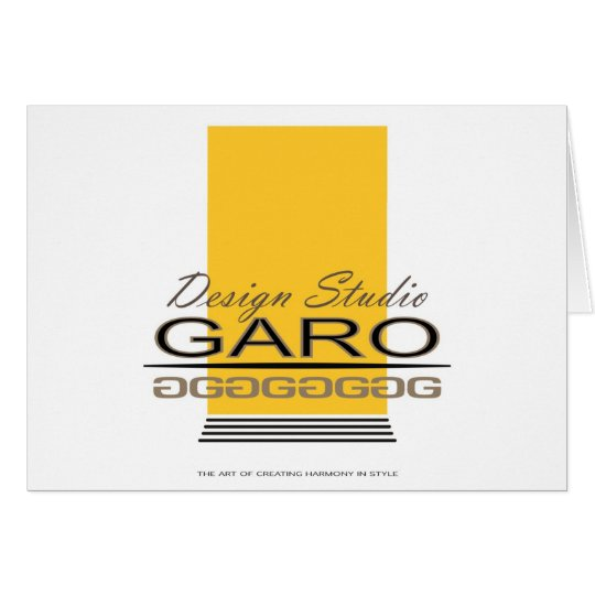 Garo Design Card