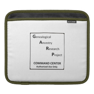 GARP IPad Sleeve For Genealogists