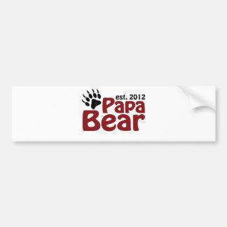 garra de oso de la papá 2012 etiqueta de parachoque