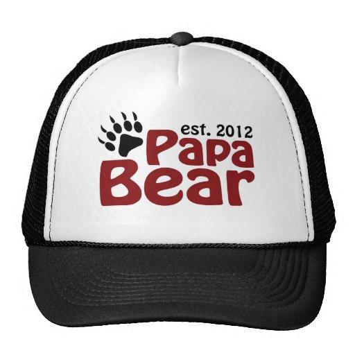 garra de oso de la papá 2012 gorros bordados