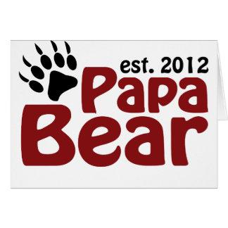 garra de oso de la papá 2012 tarjeta de felicitación
