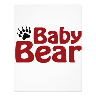 Garra de oso del bebé plantilla de membrete