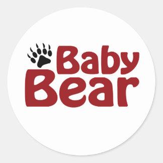 Garra de oso del bebé pegatina redonda